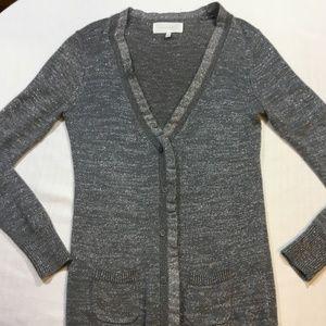 Victoria's Secret Silver Cardigan Sweater Size S/P